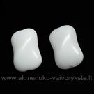 Stiklas baltas margas pagalvėlės su briauna formos 14 mm