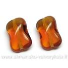 Stiklas gintaro spalvos pagalvėlės su briauna formos 14 mm