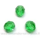 Facetuotas stiklas žalias 8 mm