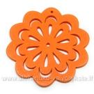 """Medinė """"gėlytė"""" oranžinė 4,9 cm"""