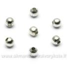Metaliniai karoliukai sidabro spalvos 2 mm 100 vnt.