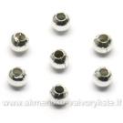 Metaliniai karoliukai sidabro spalvos 2,5 mm 100 vnt.