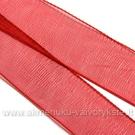 Organzos juostelė raudona 16 mm pločio