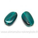 Persiškos žalios spalvos susukta stiklo pagalvėlė 14x8 mm