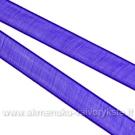 Organzos juostelė mėlynai violetinė 6 mm pločio