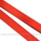 Atlasinė juostelė raudona 6 mm pločio