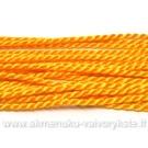 Šilkinė sukta virvelė šviesios oranžinės 46 cm