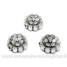 """Tibeto sidabro intarpas """"Gėlės žiedas"""" 12x4 mm"""