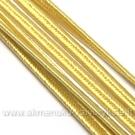 Gelsvos spalvos sutažo juostelė 3 mm