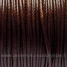 Medvilninis vaškuotas troselis tamsiai rudos spalvos 1 m.