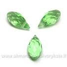 Žalias facetuotas stiklo lašiukas 13x6mm