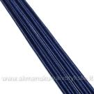 Tamsiai mėlynos spalvos sutažo juostelė 3 mm