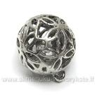 Sendinto sidabro spalvos stambus apvalus ažūrinis pakabukas