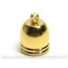 Kepurėlė -  užbaigimo detalė aukso spalvos 10mm.