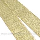 Blizgi aukso spalvos juostelė 15 mm