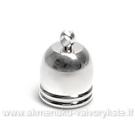 Kepurėlė -  užbaigimo detalė sidabro spalvos 10 mm