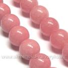 Žadeitas pastelinės rožinės spalvos apskritas 10 mm
