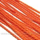 Šilkinė sukta virvelė oranžinės spalvos
