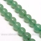 Natūralaus žaliojo avantiurino akmenukų juosta 6 mm