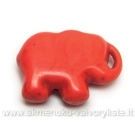 Dirbtinio turkio pakabukas-drambliukas oranžinis