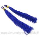 Šilko siūlų imitacijos mėlynos spalvos kutas 10 cm.