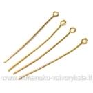 Aukso spalvos vinukai su kilpute 4 cm.