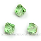 Čekiškas stiklas šviesiai žalias dvipusio konuso formos 5 mm