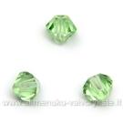 Čekiškas stiklas šviesiai žalias dvipusio konuso formos 4 mm