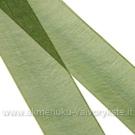 Organzos juostelė žalia 25 mm pločio
