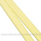 Atlasinė juostelė šviesiai geltona 6 mm pločio