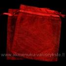 Organzos maišeliai bordo spalvos 10 x 11.5 cm