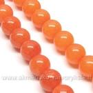 Žadeitas pastelinės oranžinės spalvos apvalus 8 mm.
