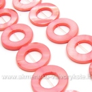 Rausvos kriauklės žiedų juosta