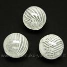 Pūstas stiklas baltas rutuliuko formos 12 mm