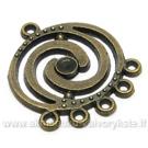 Paskirstytojas apvalus spiralės formos sendinto žalvario spalvos 24 mm