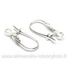Pasidabruotų auskarų kabliukų su kriauklyte pora 17 mm