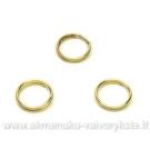 Dvigubi žiedeliai aukso spalvos 7 mm - 10 vnt.