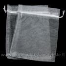 Organzos maišelis baltos spalvos 13x16 cm
