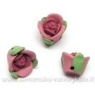 Raudonos minkšto plastiko rožytės 15 mm