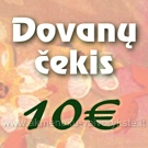 Dovanų čekis 10€ vertės