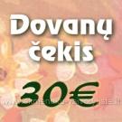 Dovanų čekis 30€ vertės