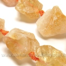 Natūralaus citrino akmenukai-gabaliukai