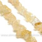 Natūralus citrinas skaldos akmenukų juosta