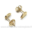 """Įveriamų auskarų įsegimai """"Lašiukai"""" aukso spalvos"""