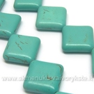 Hovlitas turkio spalvos rombo formos 22x23 mm