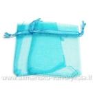 Organza maišelis žydros spalvos 7x9 cm.