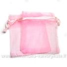 Organza maišelis rožinės spalvos 9.5 x 11.5 cm.